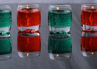 Gel-Glass-Candle